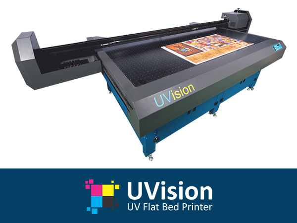 Uvision Uv Flat Bed Printer, Automatic Flex Printing Machine