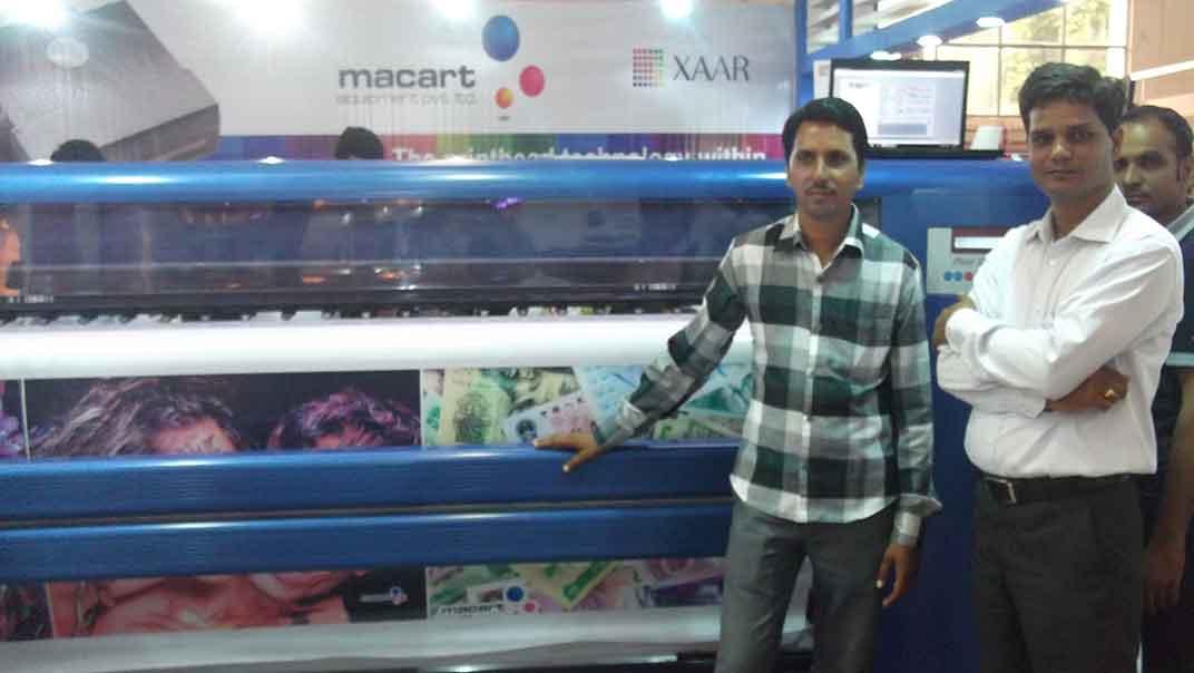 delhi exhibition, Automatic Flex Printing Machine