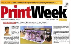 print week sep 2009,Siddharth Printing Machines Pvt. Ltd.